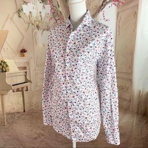 Express Slim Floral Button Down Collar shirt